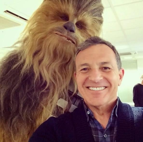 First look at Chewbacca for STAR WARS  EPISODE VII with Bob Iger at Pi