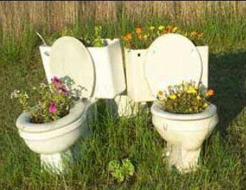 Red Neck Flower Pots