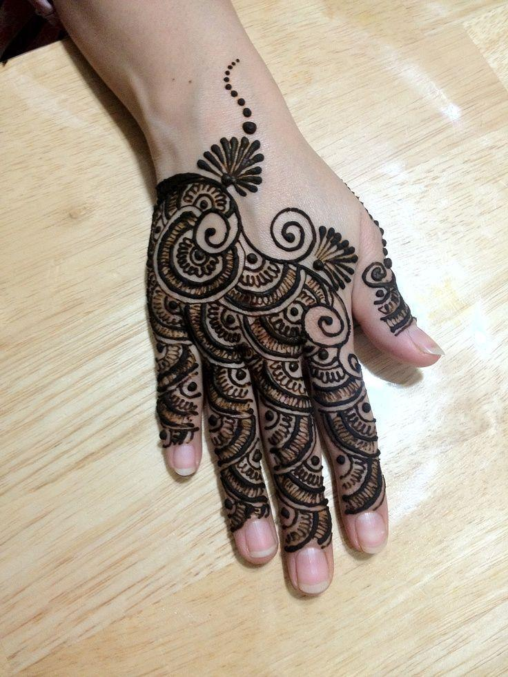 Best Back Hand Mehndi Designs