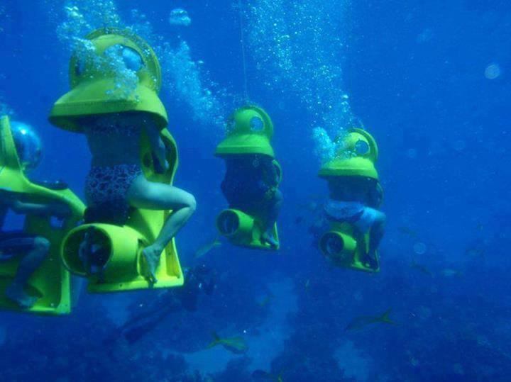 Underwater Ride in a Sub in Bahamas