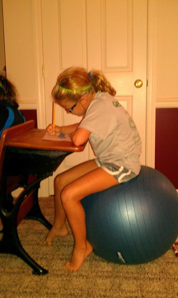 This really does work -- It does wonders! Fidgety Kids-having kids sit