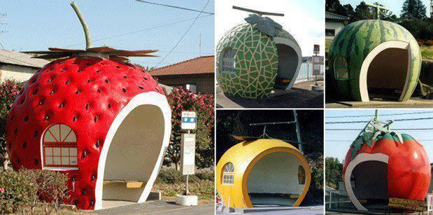 Bus stops in Japan