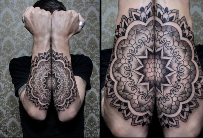 Awesome Arm Mandala Tattoo Design