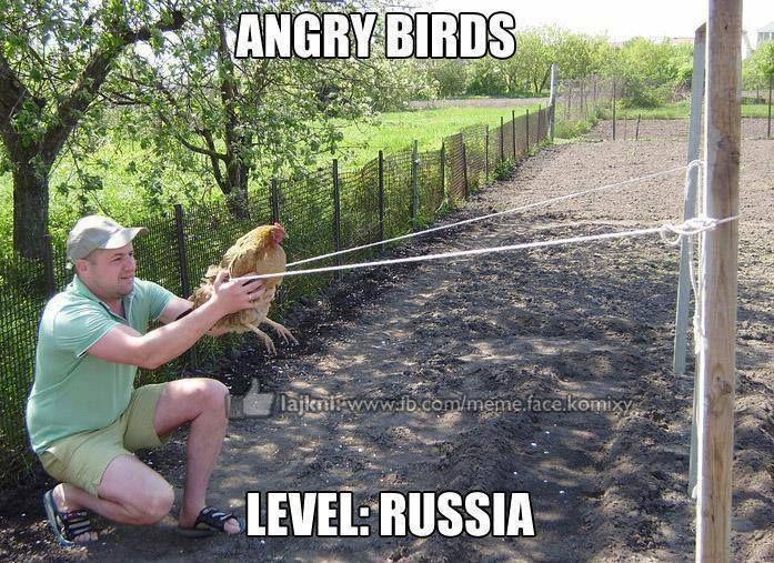 Angry Bird Level in Russia... LOL