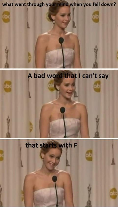 Funny Replies of of Jennifar Lawrence to Audienc