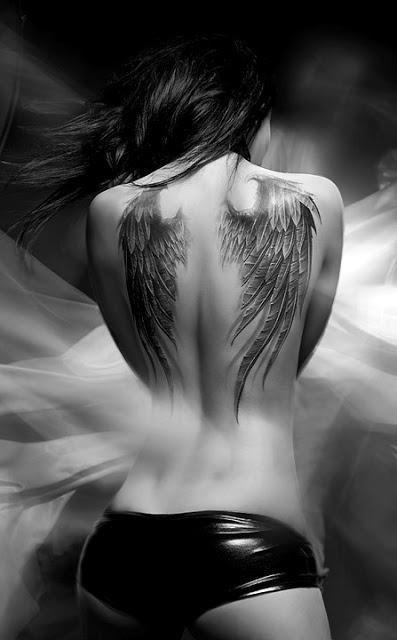 Angel wings tattoo idea.