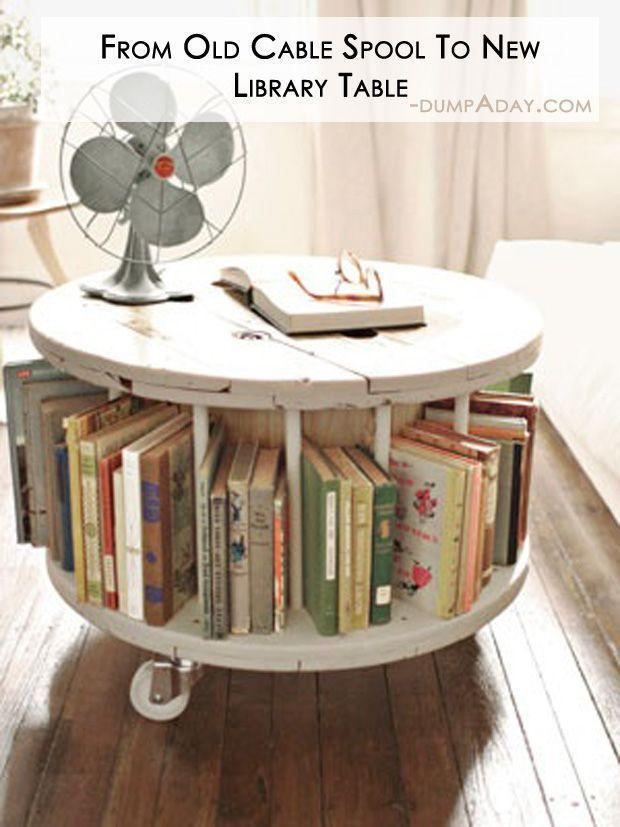 Amazing Easy DIY Home Decor Ideas- up-cycled old cable spool My dad us