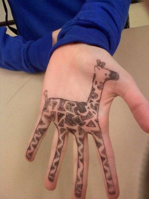 Girffa Hand tattoos