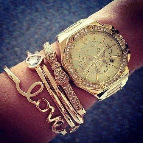 Love all of these bracelets especially the bow! The watch is awesome t