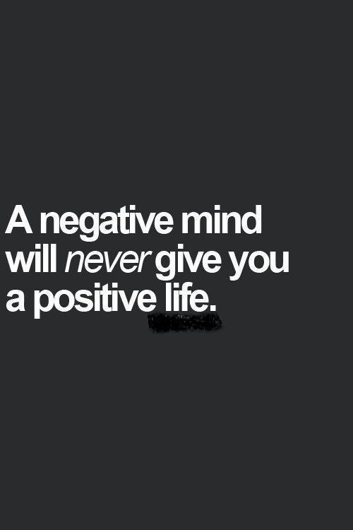 Negative Mind Vs Positive Life