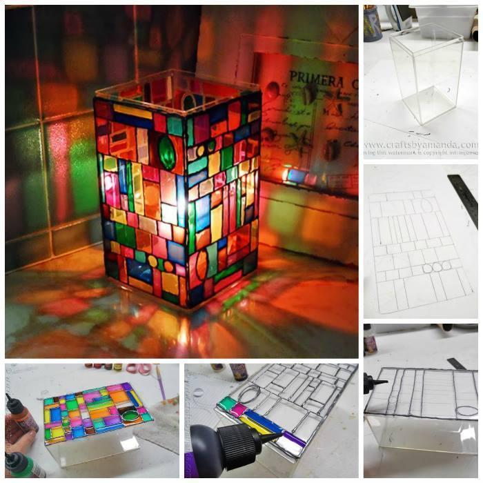 DIY Stained Glass Luminary!