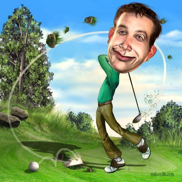 golfeur amateur ou champion de golf.