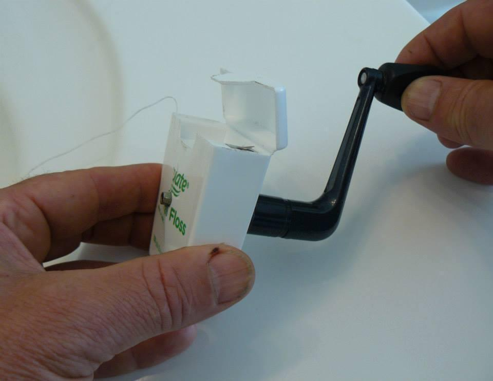 Never buy dental floss again! Attach a small handle in the middle of t