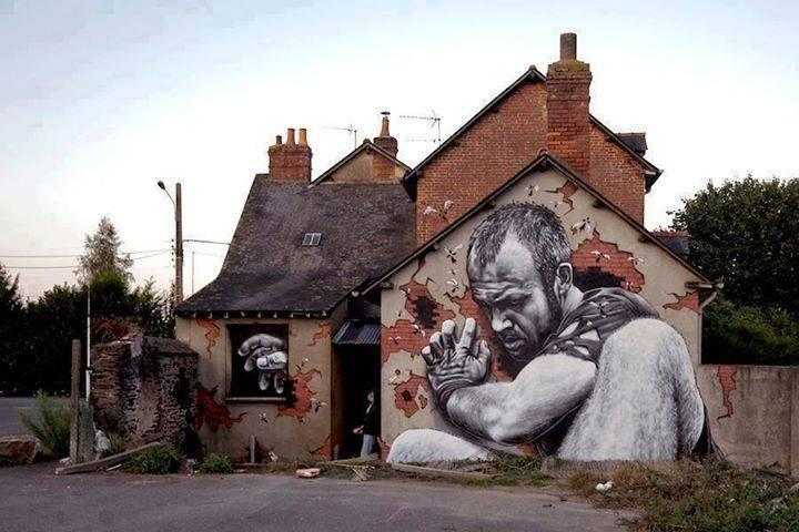 3D Street Art by MTO in Rennes, France