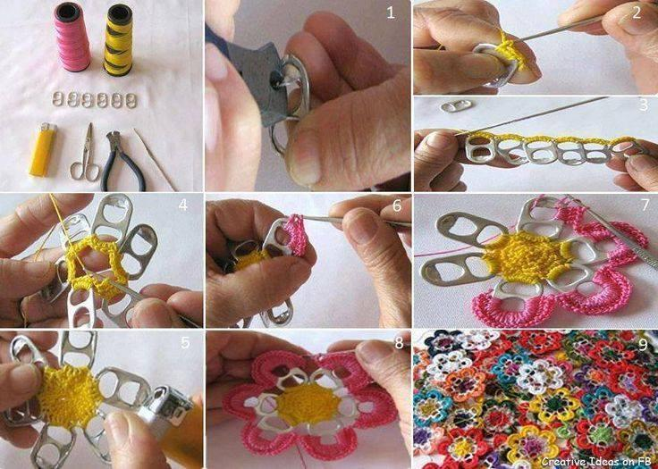 Pull Tab Crochet Flowers! DIY