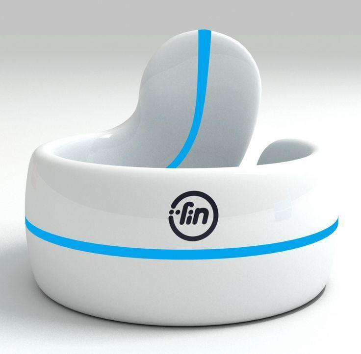Fin is a bluetooth thumb ring that transforms your hand into a touch i