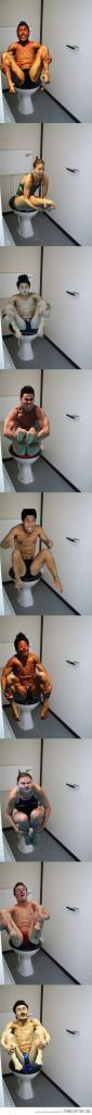 Olympic divers on the toilet…