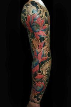 lotus sleeve tattoo tattoos