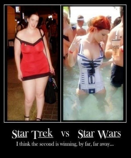 COMPARISON OF STAR TREK AND STAR WARS
