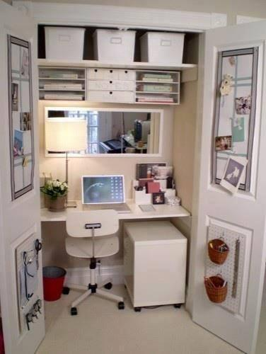Tiny Closet Craft Space!