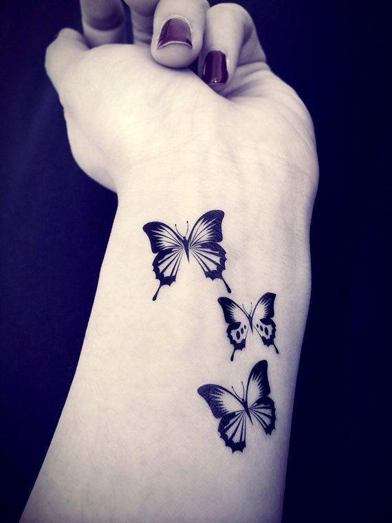 3pcs Butterfly tattoo