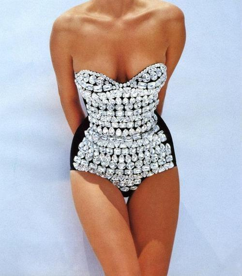 beautiful swimsuit ever with diamonds