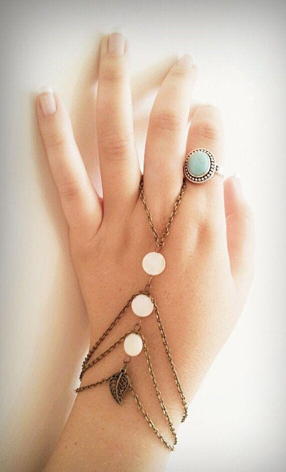 Slave Bracelet Boho Hand Bracelet Bohemian Slave Ring Hand Bracelet Gy