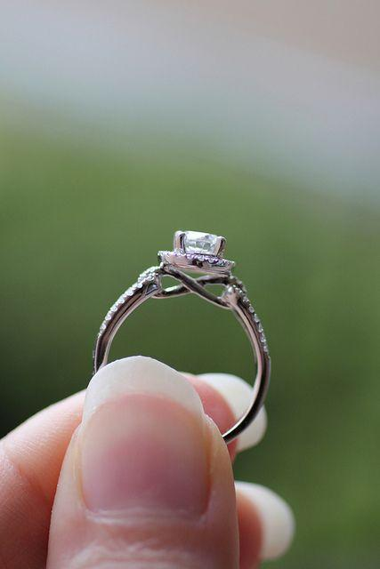 Infinity symbol in wedding ring