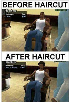 Men Before and After Hair Cut