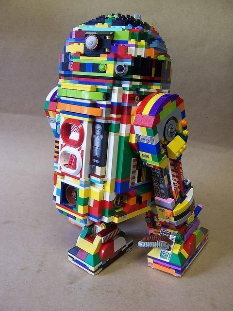 Rainbow LEGO R2-D2
