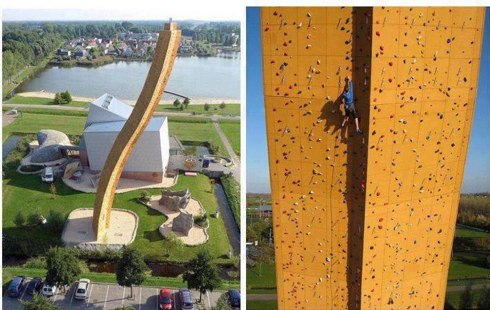 Highest human made rock climbing, Netherlands!