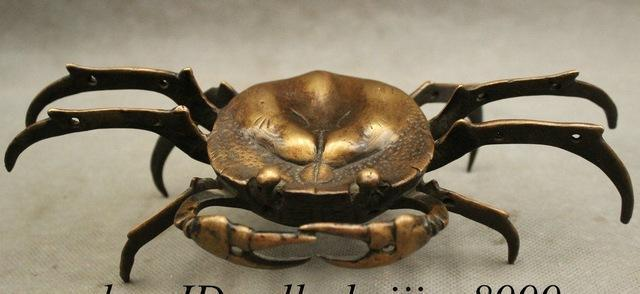 8-Chinese-FengShui-Pure-Bronze-Crab-Wealth-Animal-Beast-Mythical-Beast