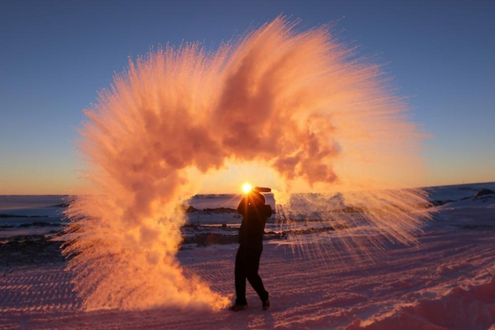 the air in Antarctica