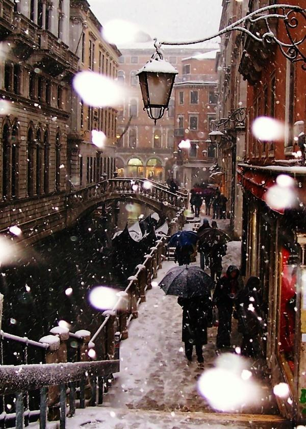 Venice in winter, Europe