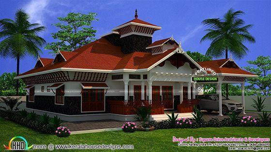 Awesome Kerala home with interiors