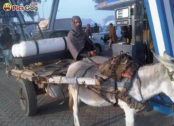 CNG gas donkey