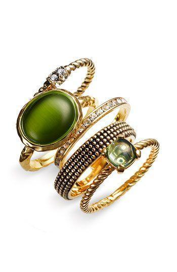 Stacking rings in green