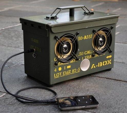 Make a DIY Surplus Ammo Can Speaker Box