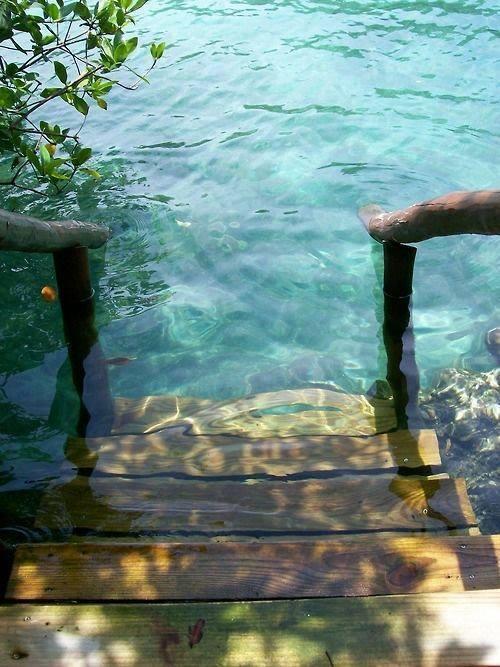 Steps to the Sea, Rivera Maya, Mexico