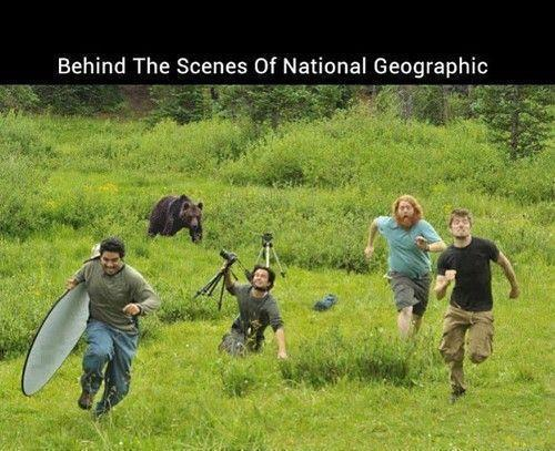 Behind the scenes of National Geographic. I've wondered this...