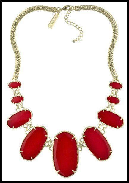 Necklace in Bright Red. Via Diamonds