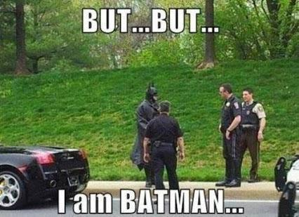 Batmans not a super hero of he is we all are! B-c who doesn't have to