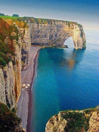 Sea cliffs, Normandy, France... so amazing!