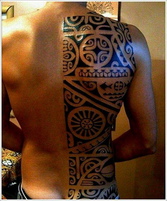 Amazing Maori Tribal Tattoo Ideas For Men On Back
