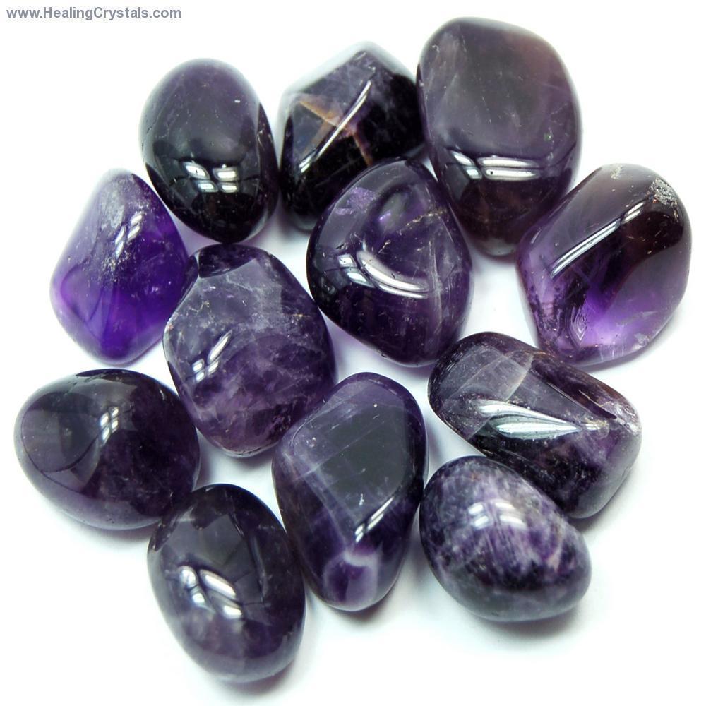 black healing crystals amethyst