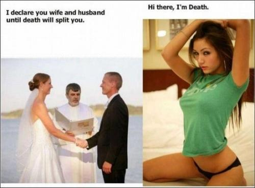 I DECLARE YOU HUSBAND AND WIFE UNTIL..