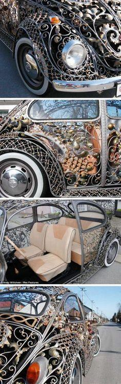 Croatian Metalwork on a VW Beetle.
