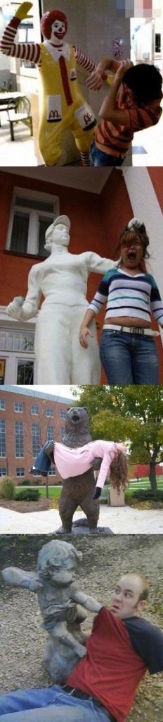 Statue humor haha