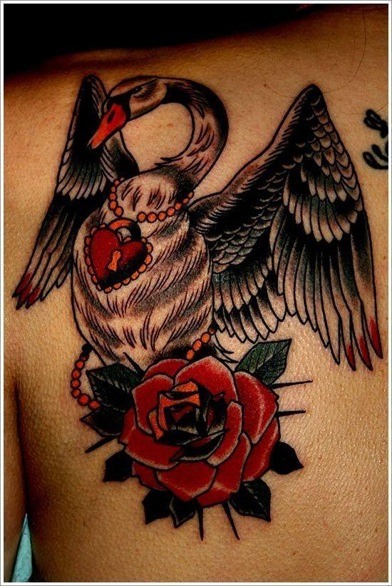 Black swan tattoo designs on upper back fanphobia for Black swan tattoo