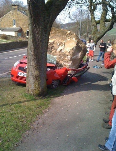 Falling Rock. That should buff out.
